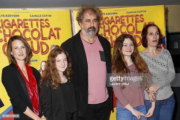 Actress Camille Cottin Actress Fanie Zanini Actor Gustave Kervern Actress Heloise Dugas and Director Sophie Reine attend Cigarettes Chocolat Chaud...