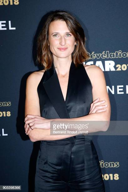 Actress Camille Cottin attends the 'Cesar Revelations 2018' Party at Le Petit Palais on January 15 2018 in Paris France