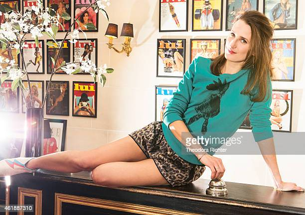Actress Camille Cottin is photographed for Madame Figaro on May 15, 2014 in Paris, France.