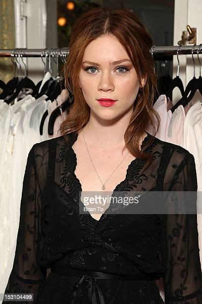 Actress Camille Cregan attends Jane Booke hosts clothing and fragrance line launch party for Taken with cohost Rosanna Arquette on September 29 2012...