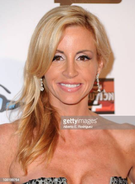 Actress Camille Grammer arrives at Bravo's 'The Real Housewives of Beverly Hills' series party on October 11 2010 in West Hollywood California