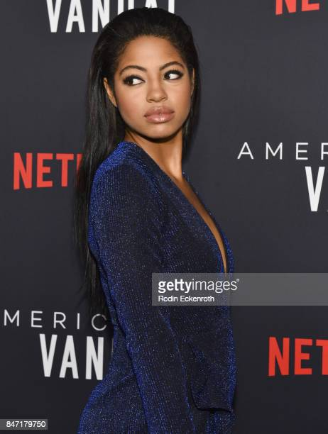 Actress Camille Hyde attends the premiere of Netflix's American Vandal at ArcLight Hollywood on September 14 2017 in Hollywood California