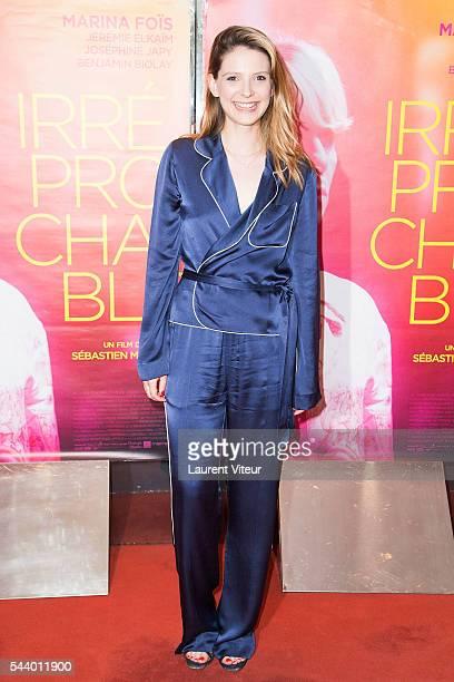 Actress Camille Japy attends 'Irreprochable' Paris Premiere at UGC Cine Cite des Halles on June 30 2016 in Paris France