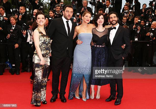 Actress Camille Lellouche actor Denis Menochet actress Lea Seydoux director Rebecca Zlotowski and actor Tahar Rahim attends 'Grand Central' Premiere...