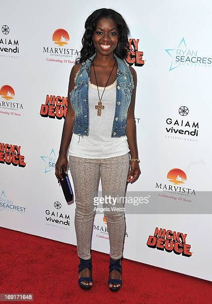 Actress Camille Winbush arrives at the premiere of Nickelodeon's 'Nicky Deuce' at ArcLight Cinemas on May 20 2013 in Hollywood California