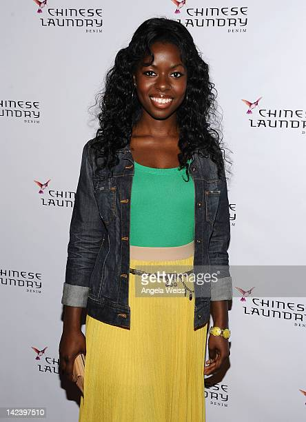 Actress Camille Winbush attends the Chinese Laundry Fashion Denim launch party at Eden on April 3 2012 in Hollywood California