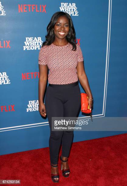 Actress Camille Winbush attends the premiere of Netflix's 'Dear White People' at Downtown Independent on April 27 2017 in Los Angeles California