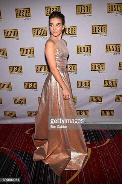 Actress Camren Bicondova attends the 75th Anniversary USO Armed Forces Gala at Marriott Marquis Hotel on December 13 2016 in New York City