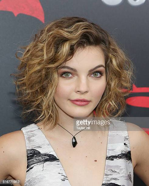 Actress Camren Bicondova attends the Batman v Superman Dawn of Justice premiere at Radio City Music Hall on March 20 2016 in New York City