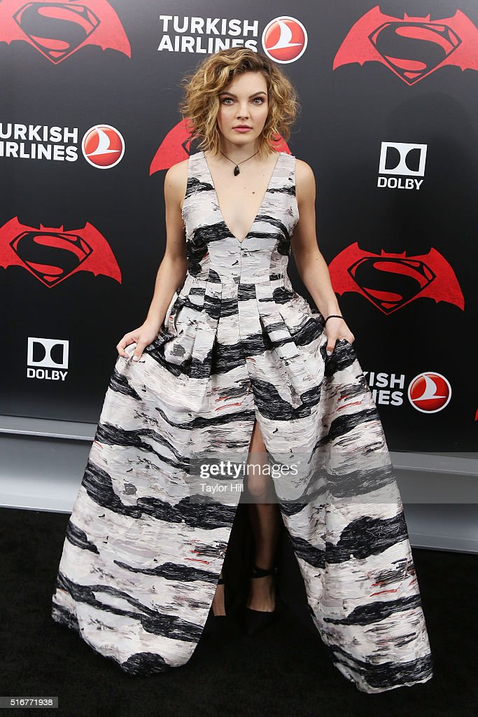 Actress Camren Bicondova attends the 'Batman v. Superman: Dawn of Justice' premiere at Radio City Music Hall on March 20, 2016 in New York City.