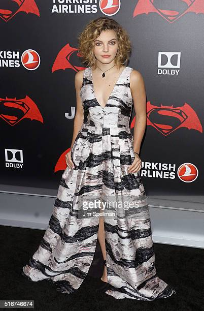 Actress Camren Bicondova attends the Batman V Superman Dawn Of Justice New York premiere at Radio City Music Hall on March 20 2016 in New York City