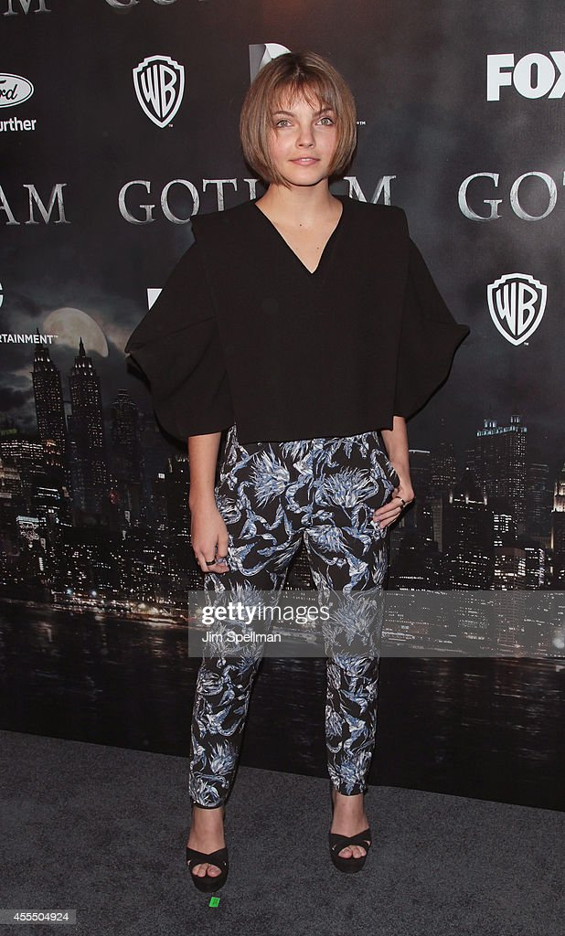 Actress Camren Bicondova attends the 'Gotham' Series Premiere at The New York Public Library on September 15, 2014 in New York City.