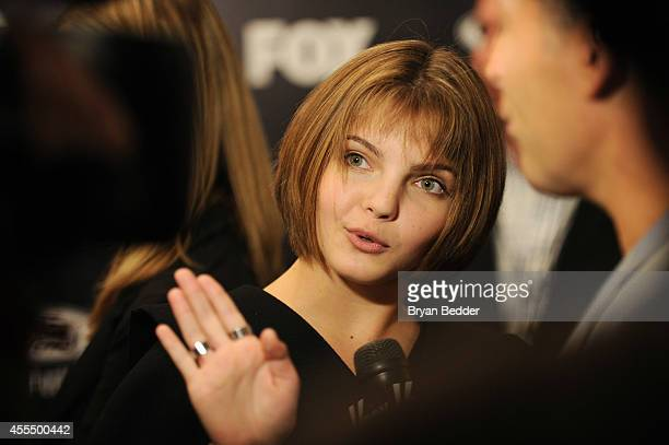 Actress Camren Bicondova attends the GOTHAM Series Premiere event on September 15 2014 in New York City