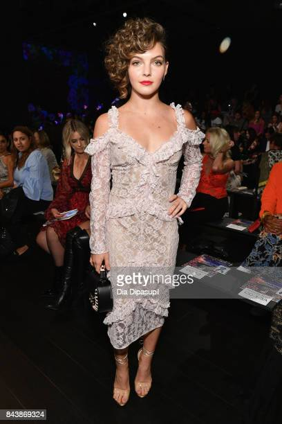 Actress Camren Bicondova attends the Tadashi Shoji fashion show during New York Fashion Week The Shows at Gallery 1 Skylight Clarkson Sq on September...