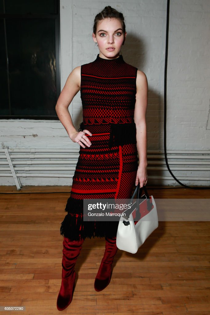 Actress Camren Bicondova attends the Zac Posen Presentation during New York Fashion Week: at 13-17 Laight Street on February 14, 2017 in New York City.