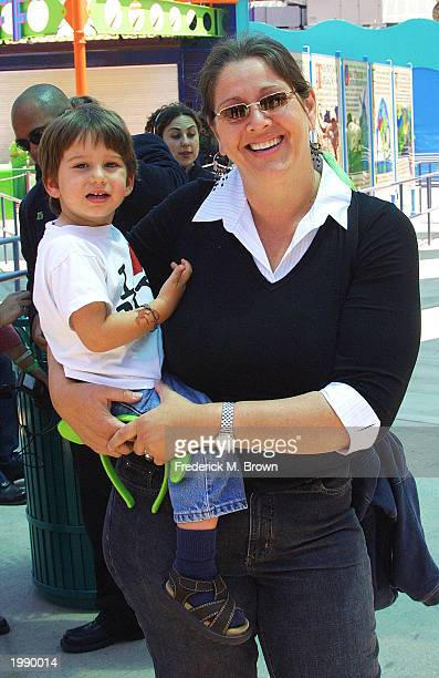 Actress Camryn Manheim and her son Milo attend the world premiere of Shrek 4D at Universal Studios Hollywood on May 10 2003 in University City...