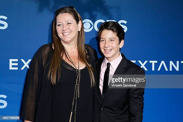 Actress Camryn Manheim and Milo Jacob Manheim attend the Los Angeles premiere of Extant at Samuel Oschin Space Shuttle Endeavour Display Pavilion on...