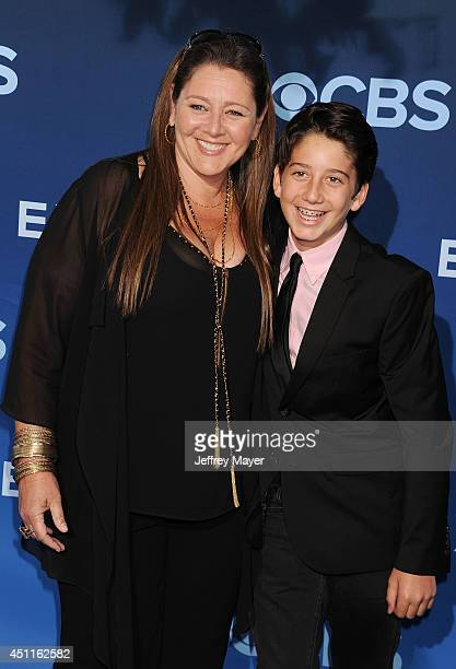 Actress Camryn Manheim and Milo Jacob Manheim attend the Premiere Of CBS Films' 'Extant' at California Science Center on June 16 2014 in Los Angeles...