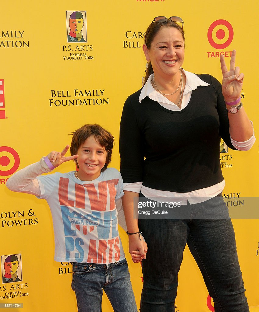 Actress Camryn Manheim and Son Milo arrive at the 11th
