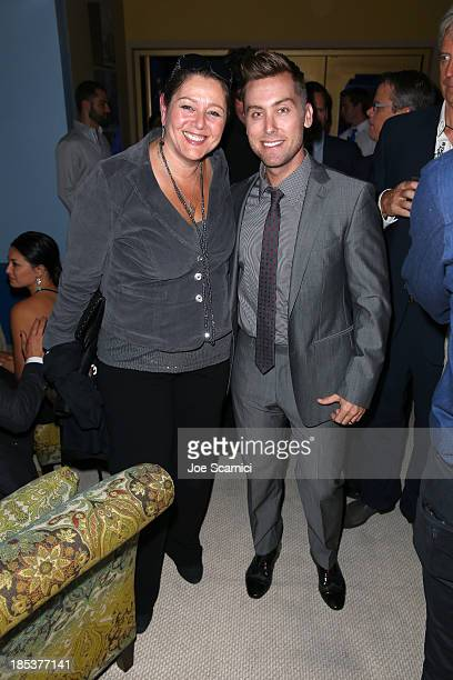 Actress Camryn Manheim and TV Personality Lance Bass attends the 23rd Annual Environmental Media Awards presented by Toyota and Lexus at Warner Bros...