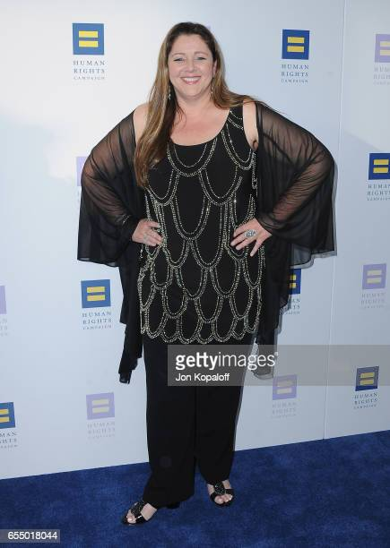 Actress Camryn Manheim arrives at the Human Rights Campaign's 2017 Los Angeles Gala Dinner at JW Marriott Los Angeles at L.A. LIVE on March 18, 2017...