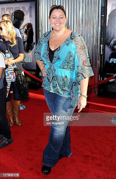 """Actress Camryn Manheim arrives at the Los Angeles Premiere """"Real Steel"""" at Gibson Amphitheatre on October 2, 2011 in Universal City, California."""