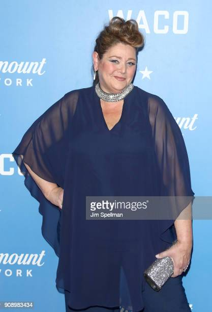 Actress Camryn Manheim attends the Waco world premiere at Jazz at Lincoln Center on January 22 2018 in New York City