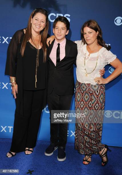 Actress Camryn Manheim Milo Jacob Manheim and actress Marcia Gay Harden the Premiere Of CBS Films' 'Extant' at California Science Center on June 16...