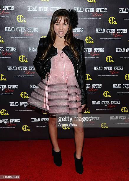 Actress Camryn Molnar arrives at the world premiere of 'Head Over Spurs In Love' at Majestic Crest Theatre on March 24, 2011 in Los Angeles,...