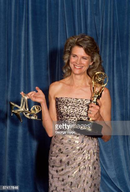 "Actress Candace Bergen wins the 1989 Best Actress-Comedy Series Emmy Award for her portrayal of ""Murphy Brown."" She is photographed in the Pasadena,..."