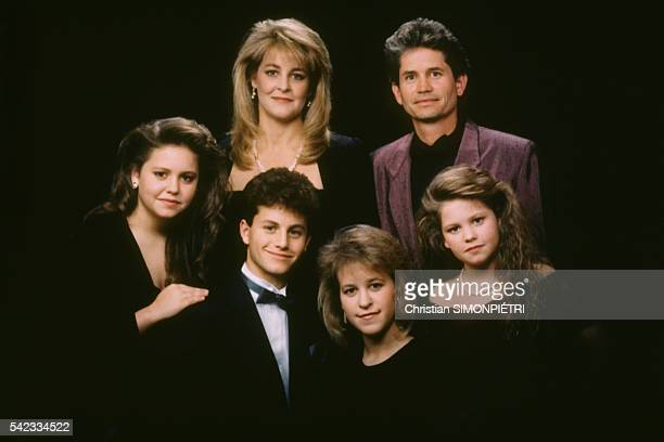 Actress Candace Cameron at home with members of her family Barbara Robert Candace Bridgette Kirk and Melissa