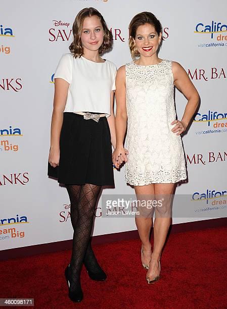 Actress Candace Cameron Bure and daughter Natasha Bure attend the premiere of Saving Mr Banks at Walt Disney Studios on December 9 2013 in Burbank...