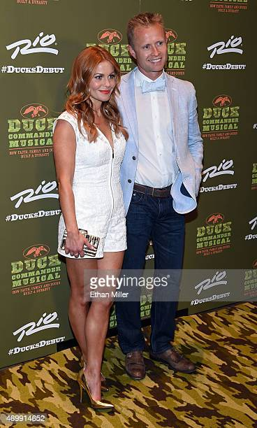 Actress Candace Cameron Bure and her husband former NHL player Valeri Bure attend the Duck Commander Musical premiere at the Crown Theater at the Rio...