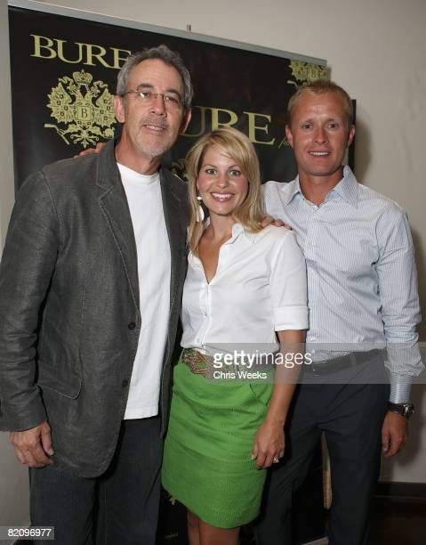 Actress Candace Cameron Bure and NHL player Valeri Bure attend the release of Bure Family Wines at Campanile on July 28 2008 in Los Angeles California