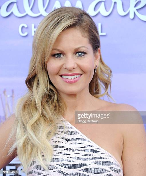Actress Candace Cameron Bure arrives at the Hallmark Channel and Hallmark Movies and Mysteries Summer 2016 TCA Press Tour Event on July 27 2016 in...