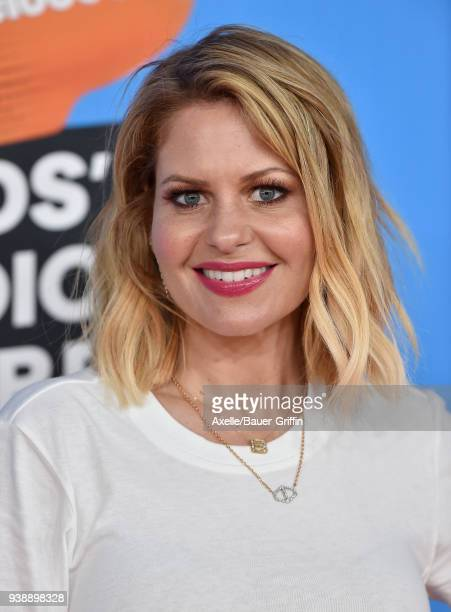 Actress Candace Cameron Bure attends Nickelodeon's 2018 Kids' Choice Awards at The Forum on March 24 2018 in Inglewood California