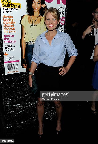Actress Candace Cameron Bure attends the 11th Anniversay Celebration of Nylon Magazine at Trousdale on April 7 2010 in West Hollywood California