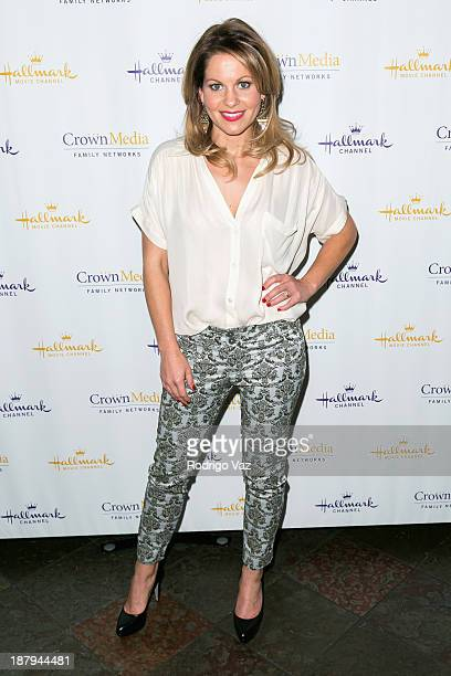 Actress Candace Cameron Bure attends the Hallmark Channel's Annual Holiday Event premiering The Christmas Ornament at La Piazza Restaurant on...