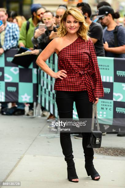 Actress Candace Cameron Bure enters the 'AOL Build' taping at the AOL Studios on September 18 2017 in New York City