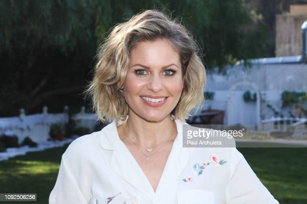"Actress Candace Cameron Bure visits Hallmark's ""Home & Family"" at Universal Studios Hollywood on January 10, 2019 in Universal City, California."