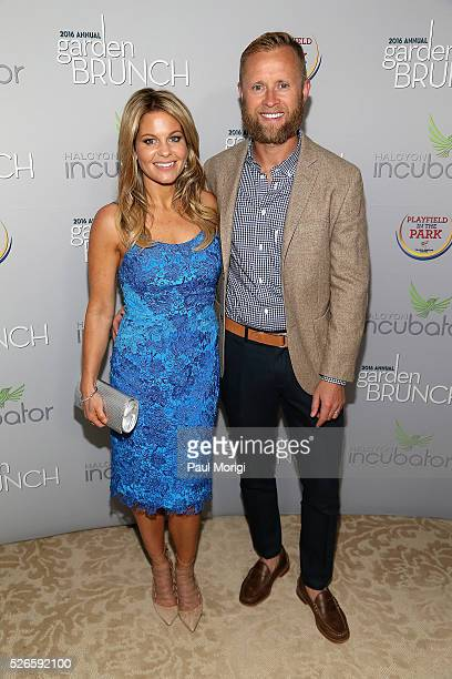 Actress Candace Cameron-Bure and Valeri Bure attend the Garden Brunch prior to the 102nd White House Correspondents' Association Dinner at the...