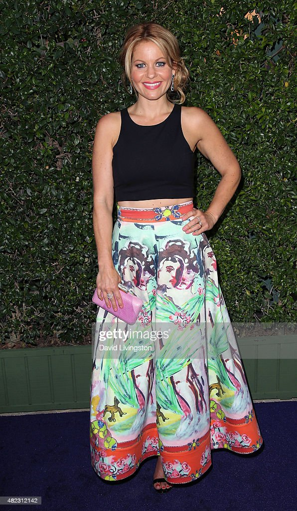 Actress Candace Cameron-Bure attends Hallmark Channel and Hallmark Movies and Mysteries at the 2015 Summer TCA Tour at a private residence on July 29, 2015 in Beverly Hills, California.