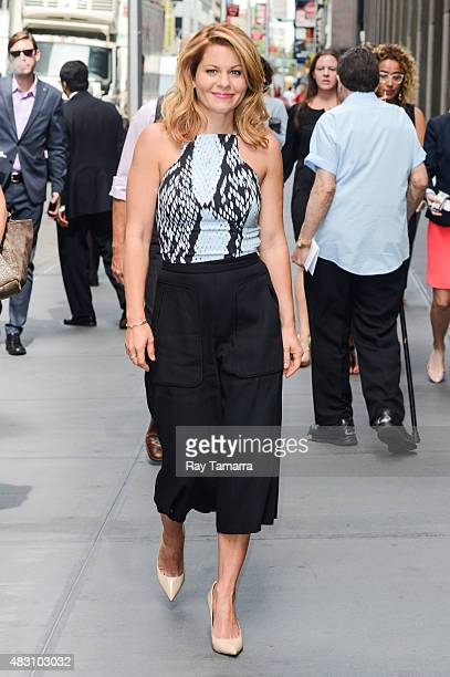 Actress Candace CameronBure enters the Sirius XM Studios on August 5 2015 in New York City