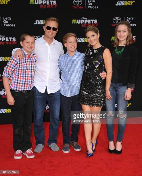 Actress Candace Cameron-Bure, husband Valeri Bure, daughter Natasha Bure, sons Lev Bure and Maksim Bure arrive at the Los Angeles premiere of...