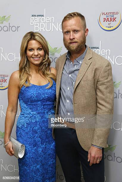 Actress Candace CameronBure left and Valeri Bure attend the 23rd Annual White House Correspondents' Garden Brunch in Washington DC US on Saturday...