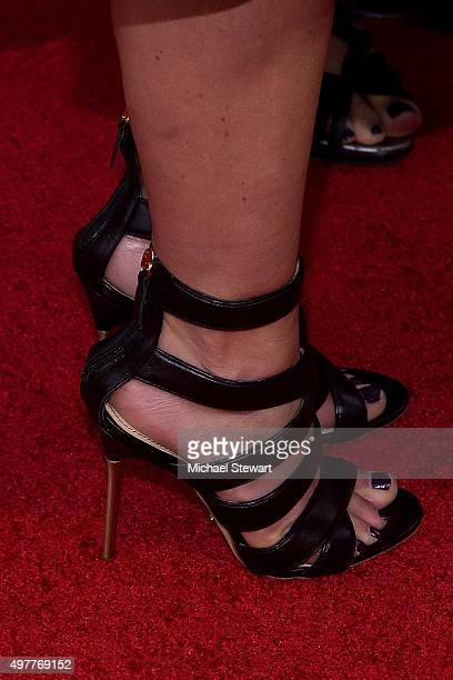 Actress Candace CameronBure shoe detail attends The Hunger Games Mockingjay Part 2 New York premiere at AMC Loews Lincoln Square 13 theater on...