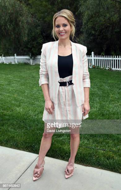Actress Candace CameronBure visits Hallmark's 'Home Family' at Universal Studios Hollywood on May 11 2018 in Universal City California