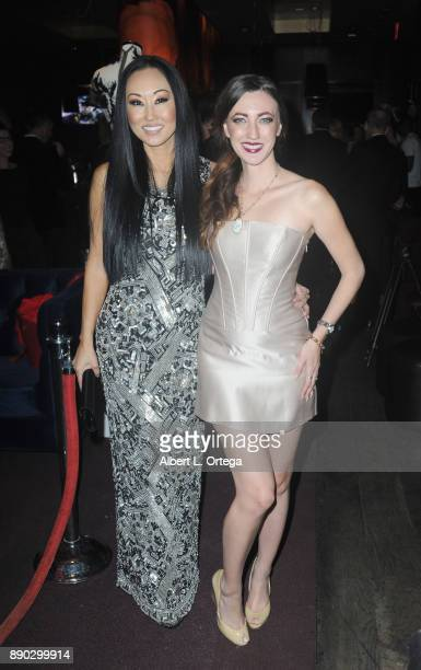 Actress Candace Kita and actress Amber Martinez arrive for Fashioniserscom Presents The Los Angeles Debut Of Lecoanet Hemant At 'One Night In Paris'...