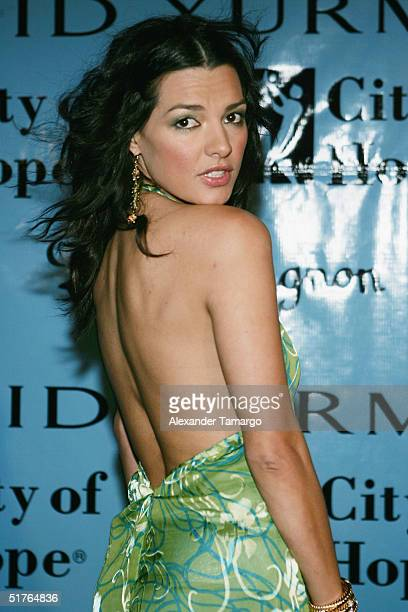 Actress Candela Ferro poses at the City of Hope Spirit of Life Gala on November 18 2004 in South Beach Florida