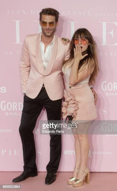 Actress Candela Pena and model Jon Kortajarena attend the 'Pieles' premiere at Capitol cinema on June 7 2017 in Madrid Spain